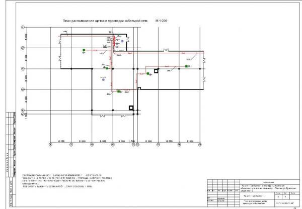 План магазина электроосвещения
